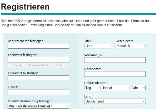 pkr-registrierung