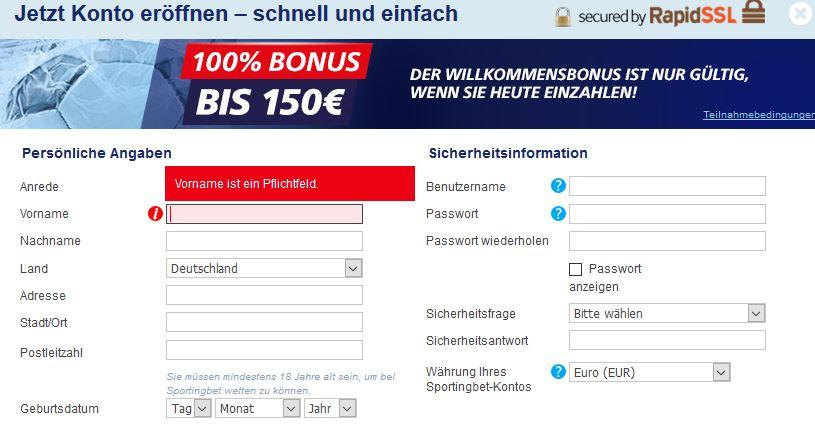 sportingbet-registrierung